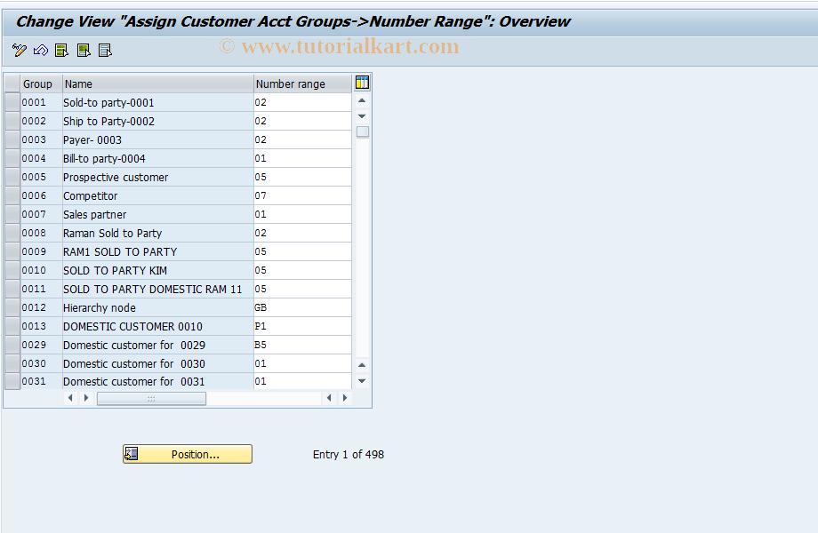 SAP TCode OBAR - C FI Maintain Table T077D