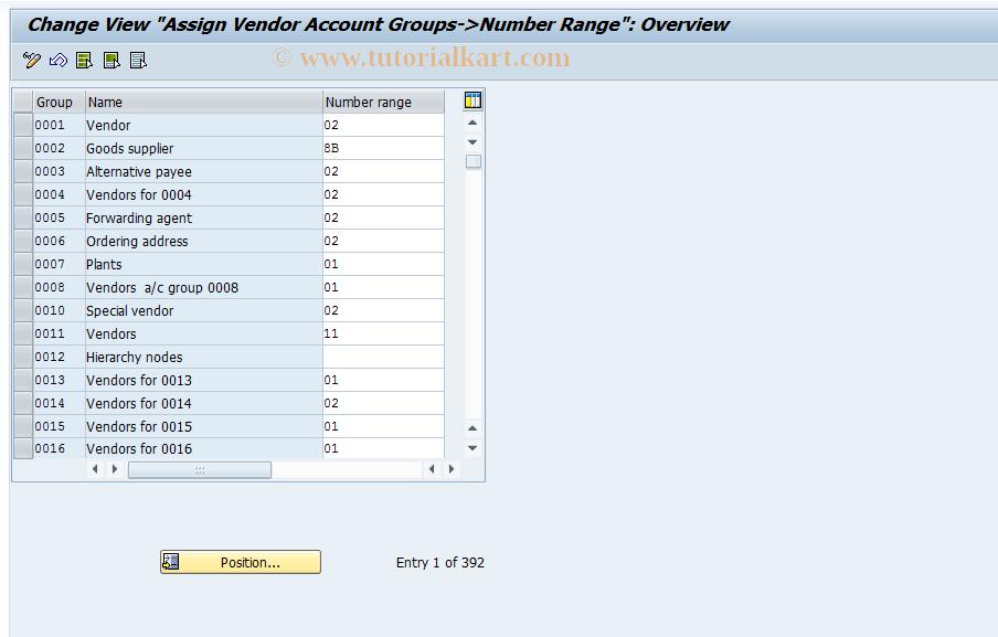 SAP TCode OBAS - C FI Maintain Table T077K