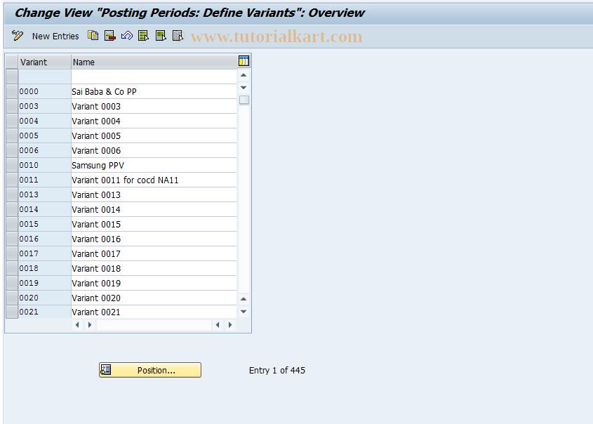 SAP TCode OBBO - C FI Maintain Table T010O