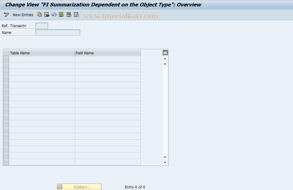 SAP TCode OBCY - C FI Table TTYPV Maintenance