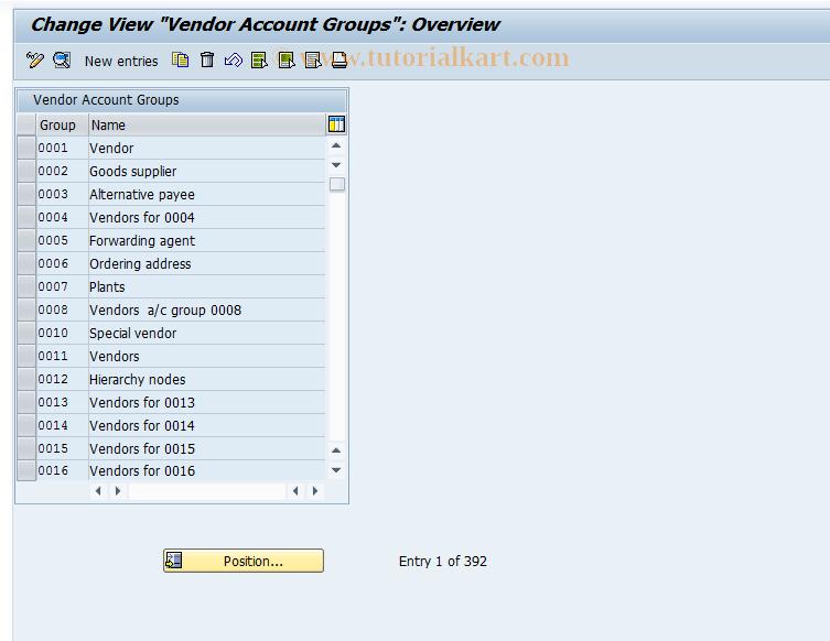 SAP TCode OBD3 - C FI Maintain Table T077K