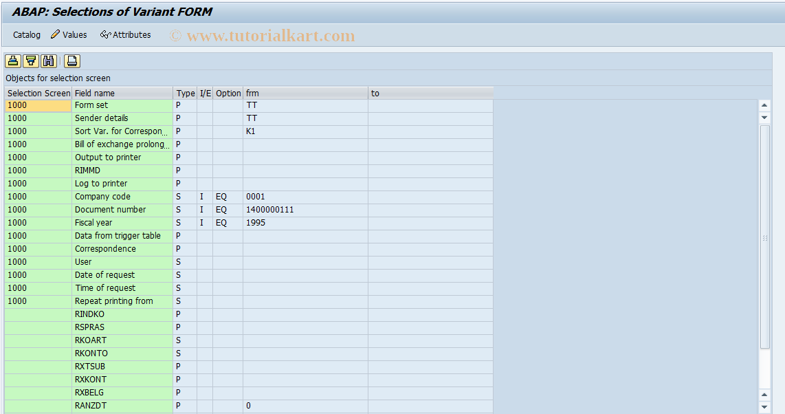 SAP TCode OBJ7 - Bill of Exchange Charges Statement
