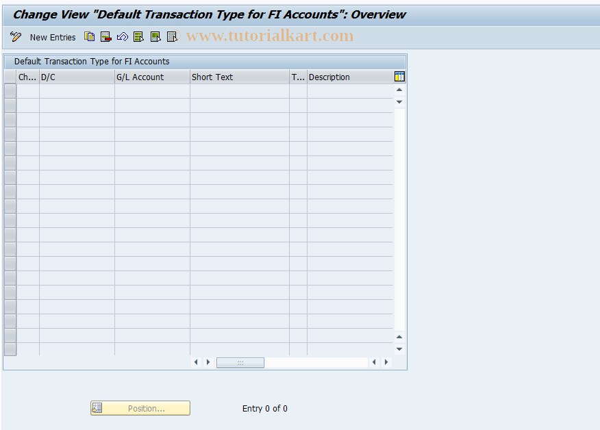 SAP TCode OBMA - Default Transaction Type for FI Acts