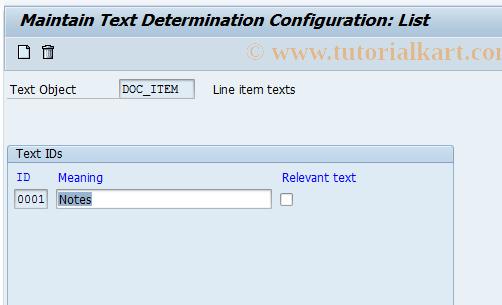 SAP TCode OBT10 - C FI Maintenance Table TTXID (DOC_ITEM)