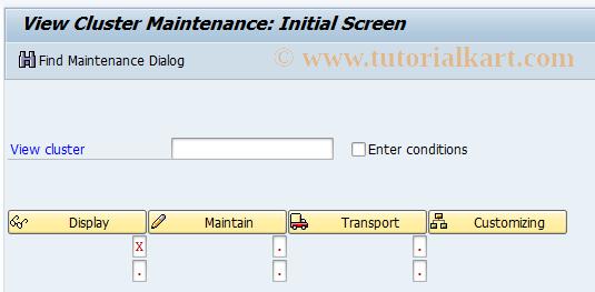 SAP TCode OBVCS - C FI Display View