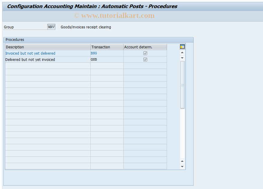 OBYP SAP Tcode : C FI Table T074 Check/Bill of Exch