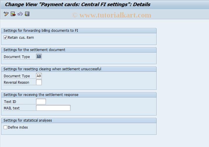 SAP TCode OBZH - C FI Maintenance Table TCCFI