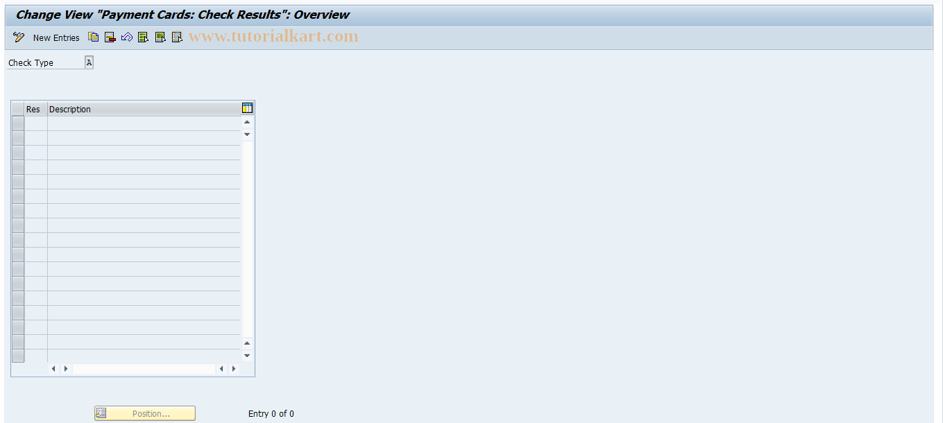 SAP TCode OCR1 - Payment Cards: Check Results
