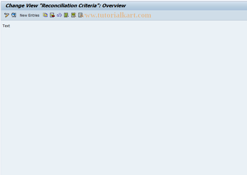 SAP TCode OFB2E3 - Define Reconciliation Criteria