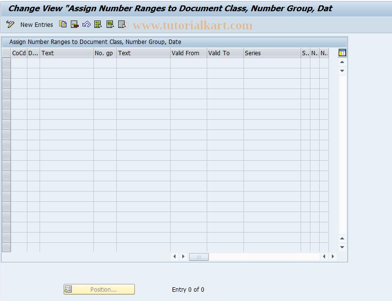 SAP TCode OFFNUMLV2 - Assign Number Ranges for ODN LV