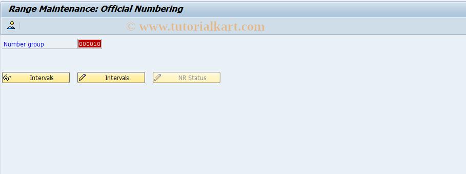 SAP TCode OFN_YR - Number range maintenance: OFN_YR