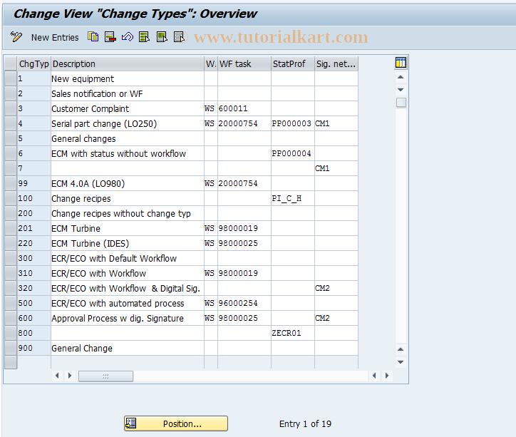 OS56 SAP Tcode : Change Types Transaction Code