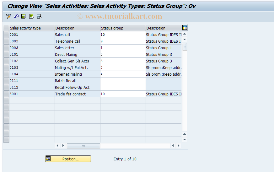 Activity Type In Sap