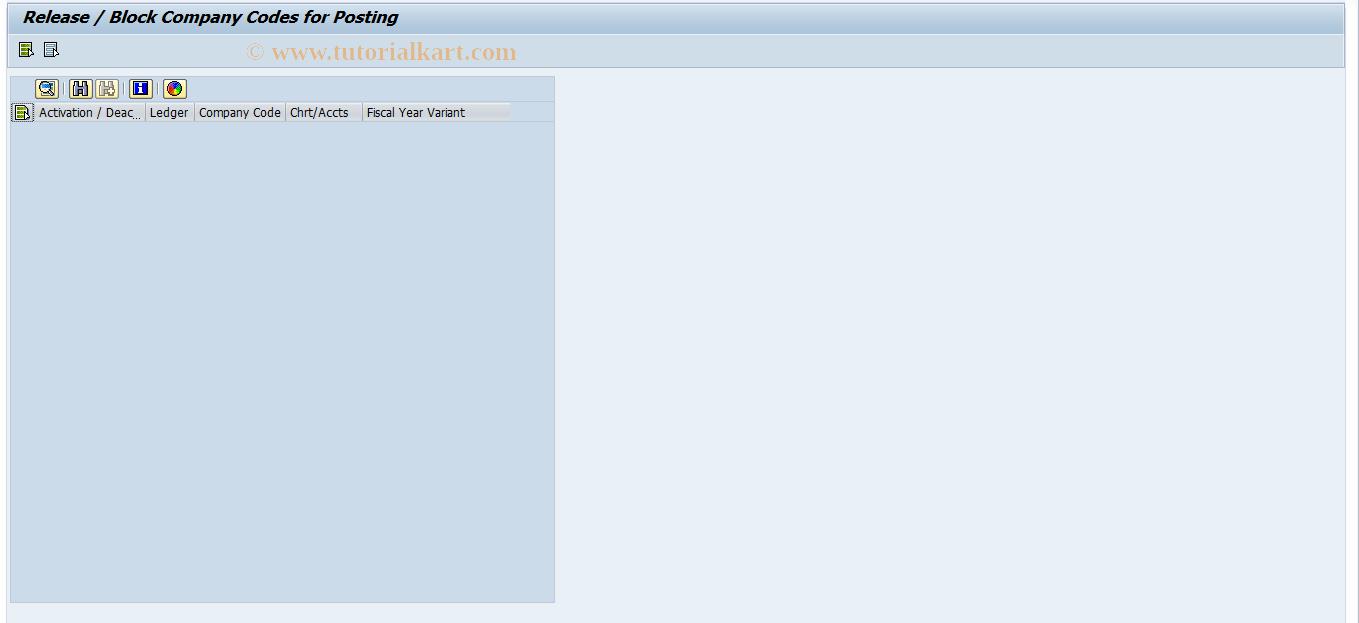 SAP TCode RETAIL_BLOCK - Retail Ledger:  Block Company Codes