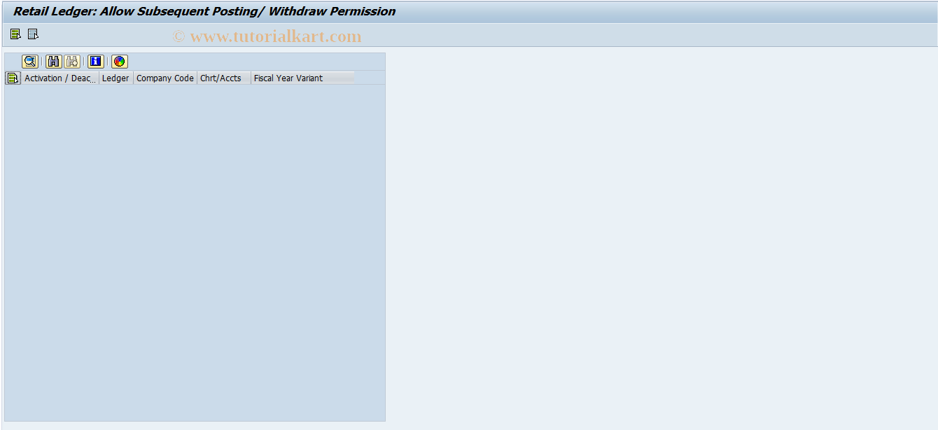 SAP TCode RETAIL_SUBPOST - Retail Ledger: Allow Subsequent Post