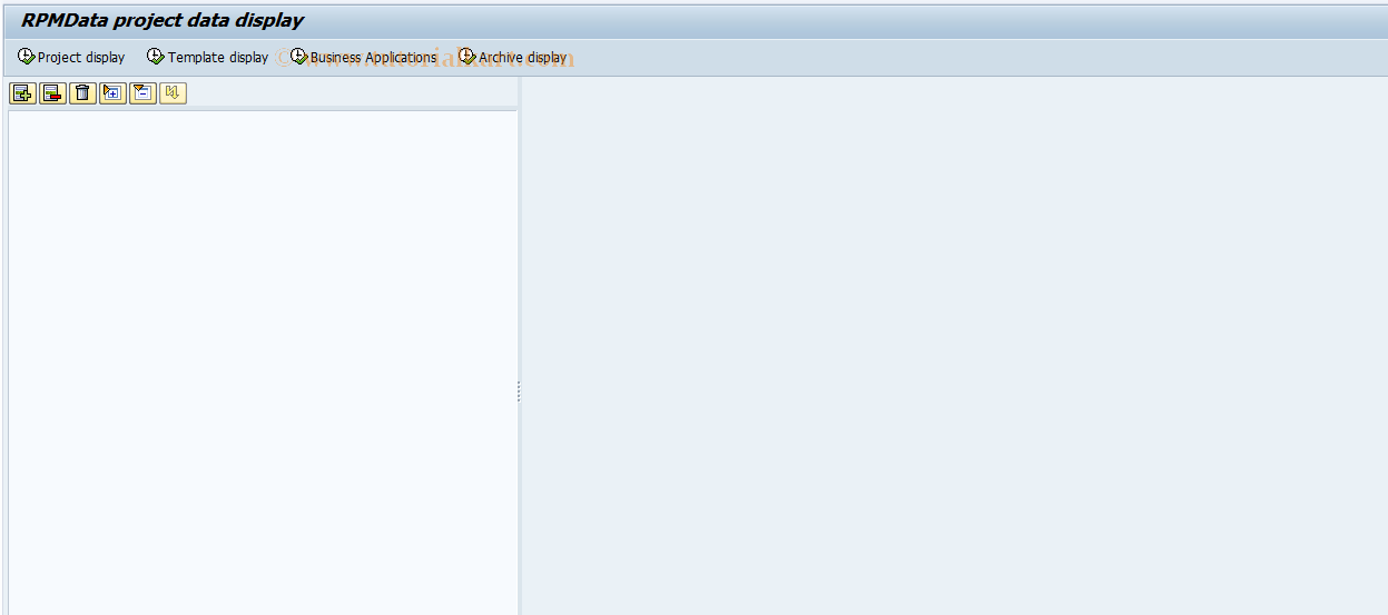 SAP TCode RPMDATA - Display Portfolio Management Data