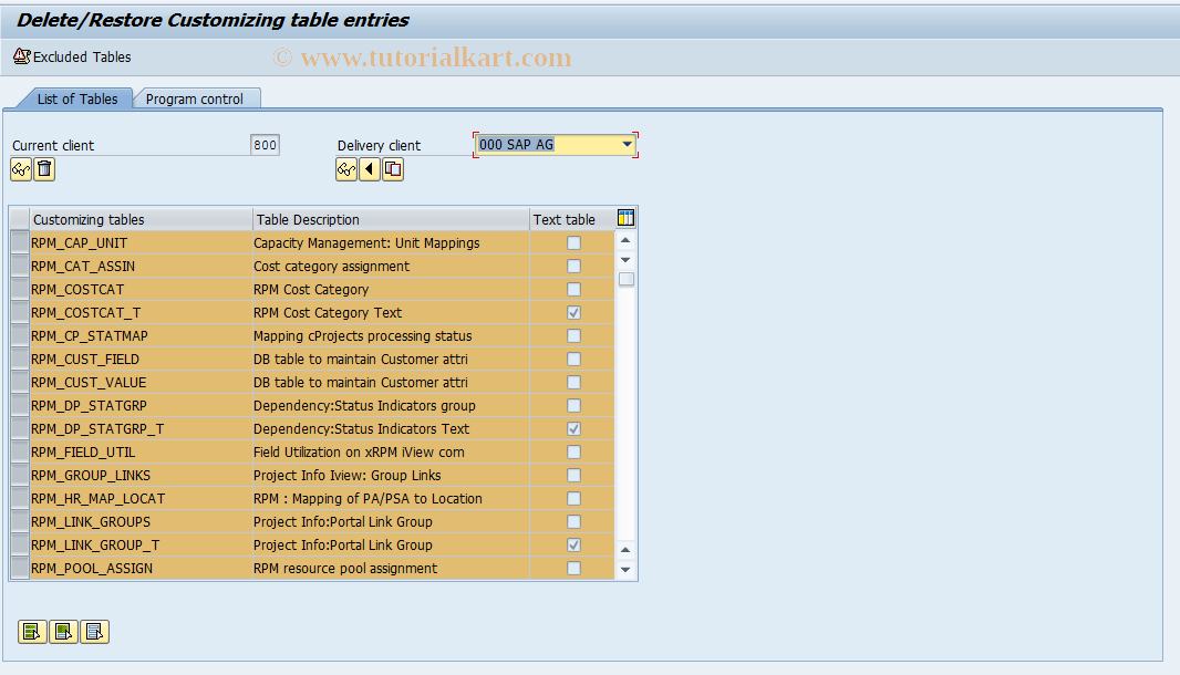 SAP TCode RPM_CLNTCOPY - Client copy report transaction