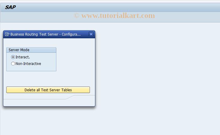 SBRT3 SAP Tcode : RBR Test Server - Configuration
