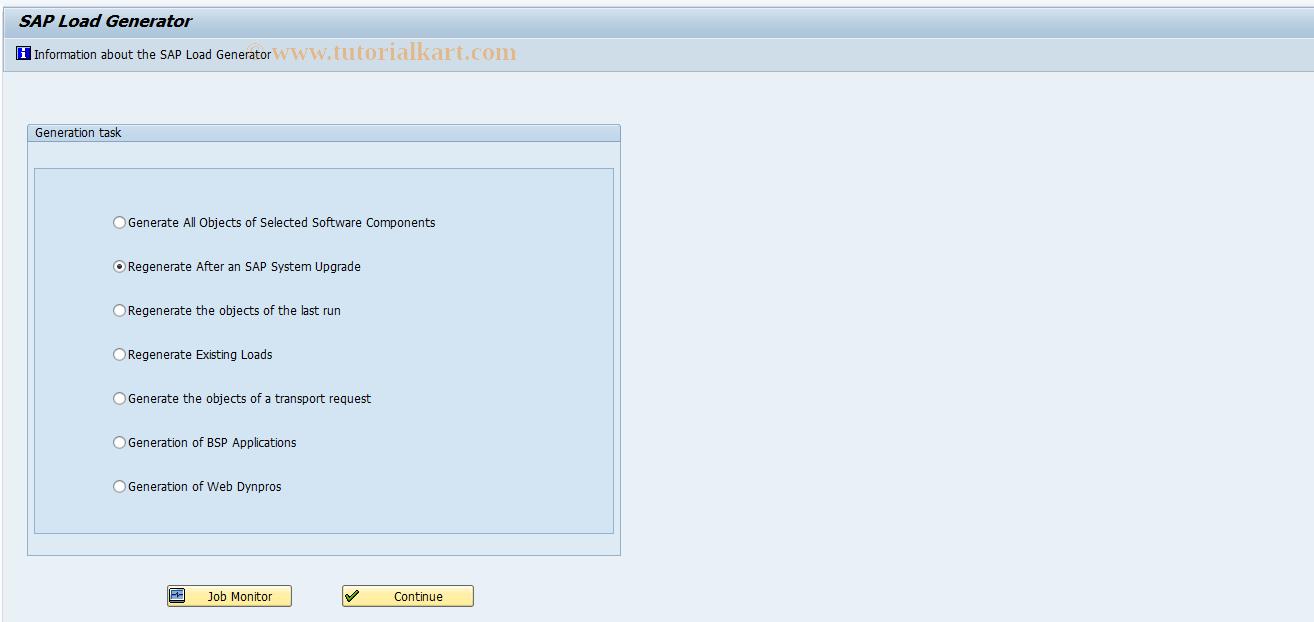 SAP TCode SGEN_OLD - SAP Load Generator