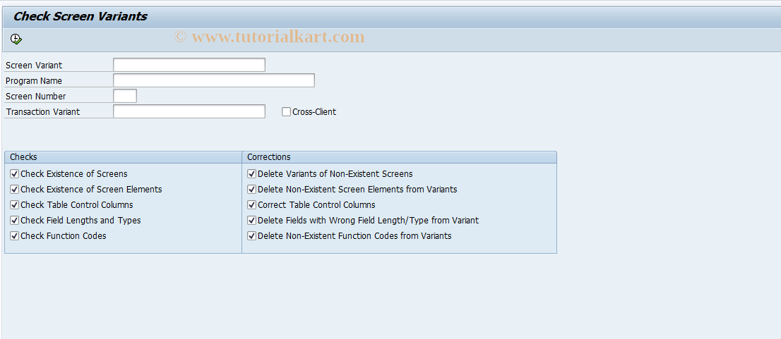 SHD_CHECK SAP Tcode : Test Screen Variants and GuiXT