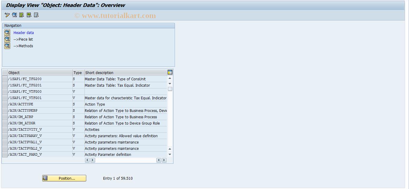 SOBJ SAP Tcode : Maintenance Object Attributes Transaction Code