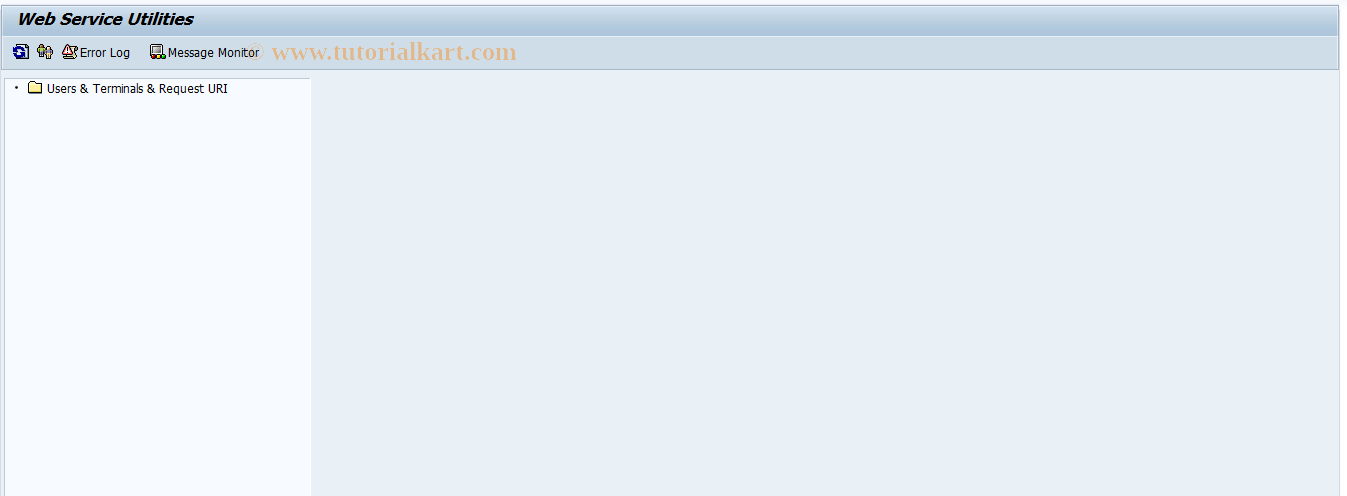 SRT_UTIL SAP Tcode : Tracing Utilities for Web Service