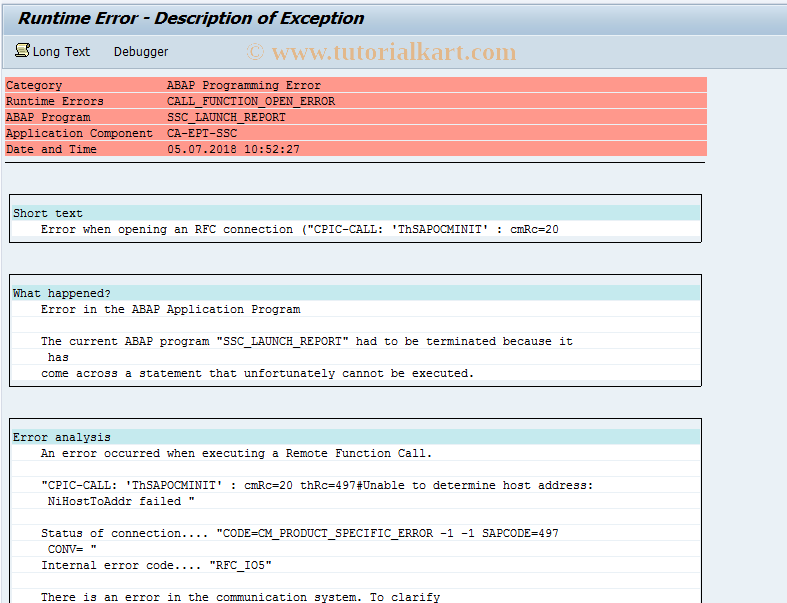 SAP TCode SSC_REPORTCONTROLLIN - CRM Service Request Report For CO