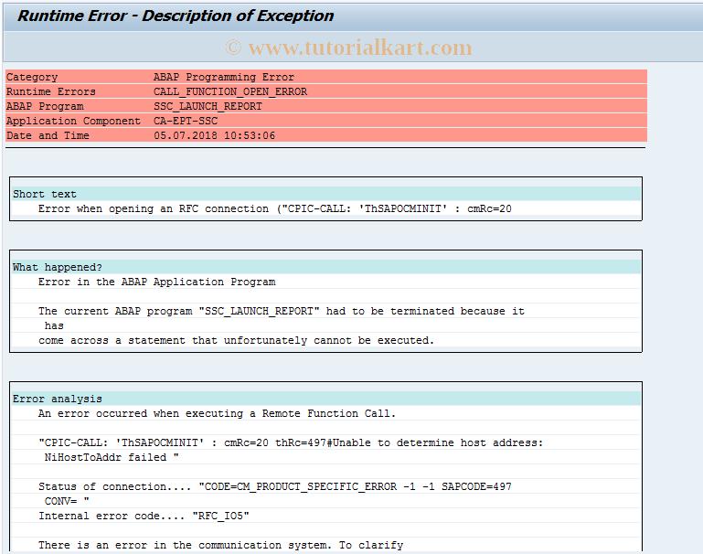 SAP TCode SSC_REPORTFINANCIALS - CRM Service Request Report For FIN