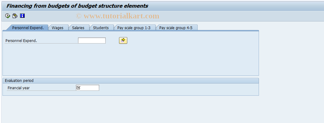 S_AHR_61016386 SAP Tcode : Financing from BS Element Budgets