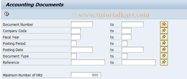 SAP TCode S_AL0_96000497 - Accounting Document
