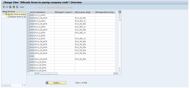 S_ALR_87003339 SAP Tcode : IMG Activity: SIMG_CFORFBT042F