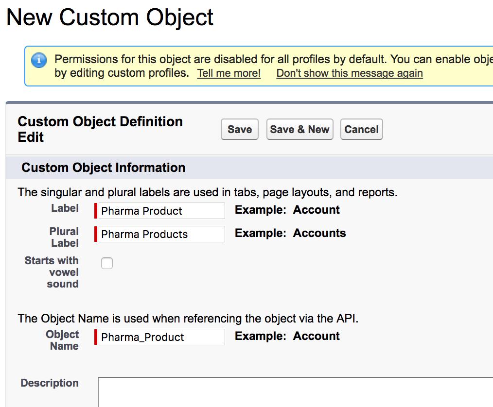 Custom objects in Salesforce