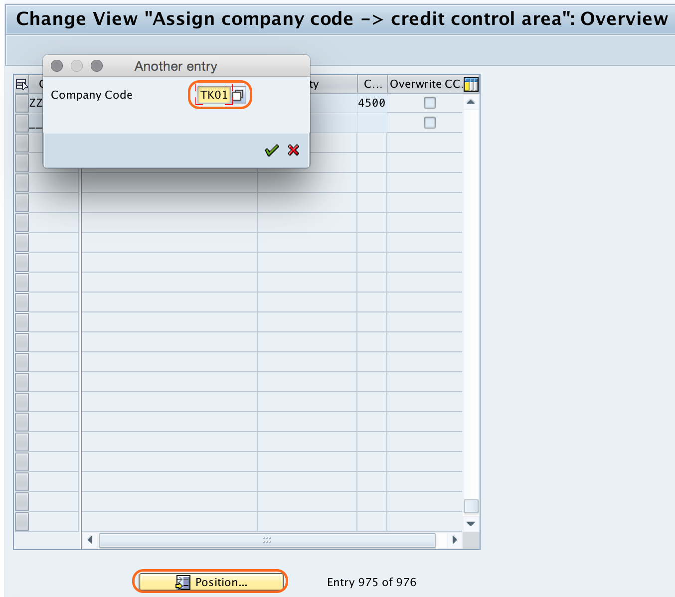 Assign Credit Control Area to Company Code