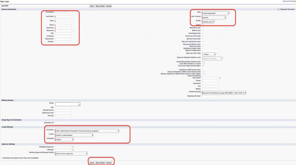 How to Create New user in Salesforce