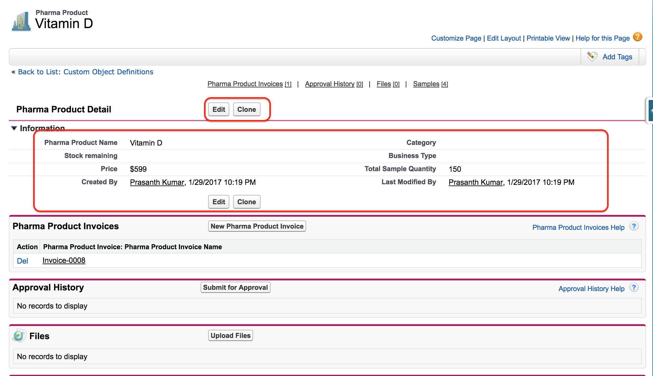 Custom page layouts in Salesforce.com