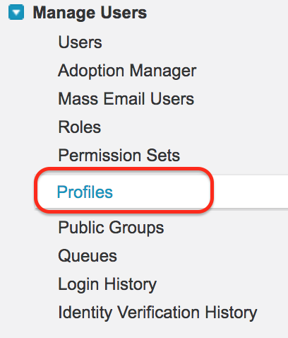 Page layout assigning to a profile1