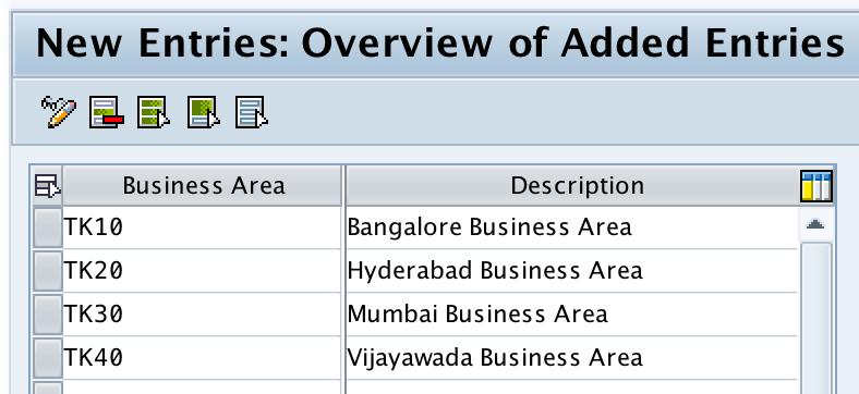 Define Business Area in SAP
