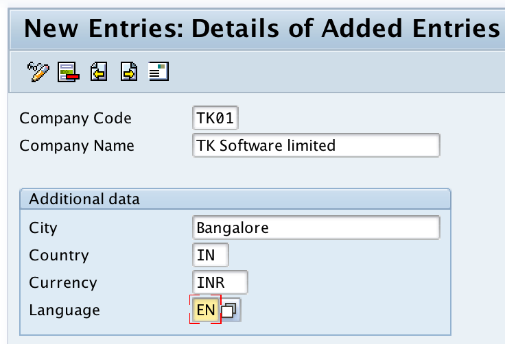 Define company code in SAP