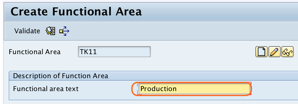 Define Functional Area in SAP