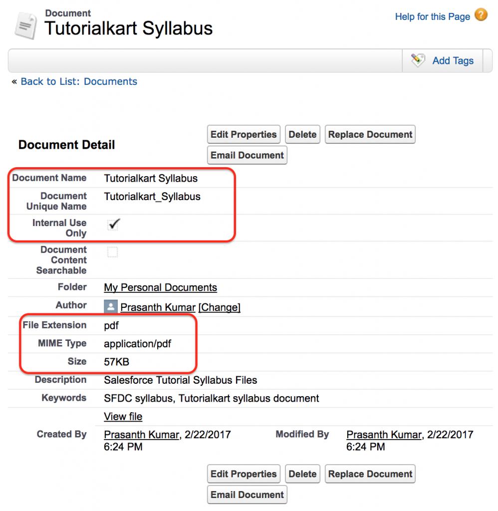 documents in Salesforce