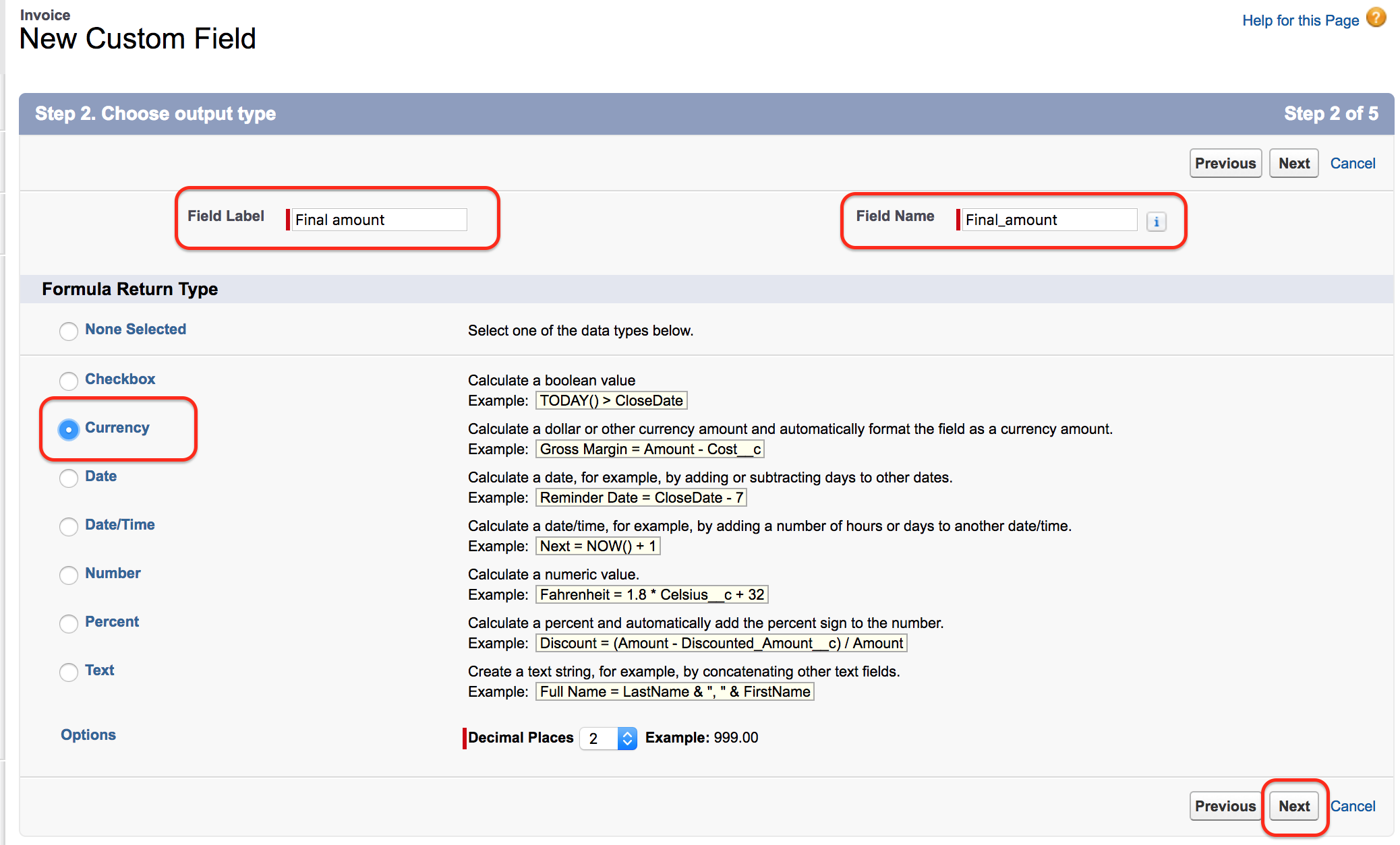How to create a formula field in salesforce