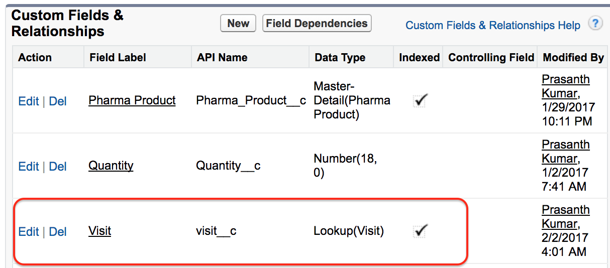 form builder master detail relationship in salesforce