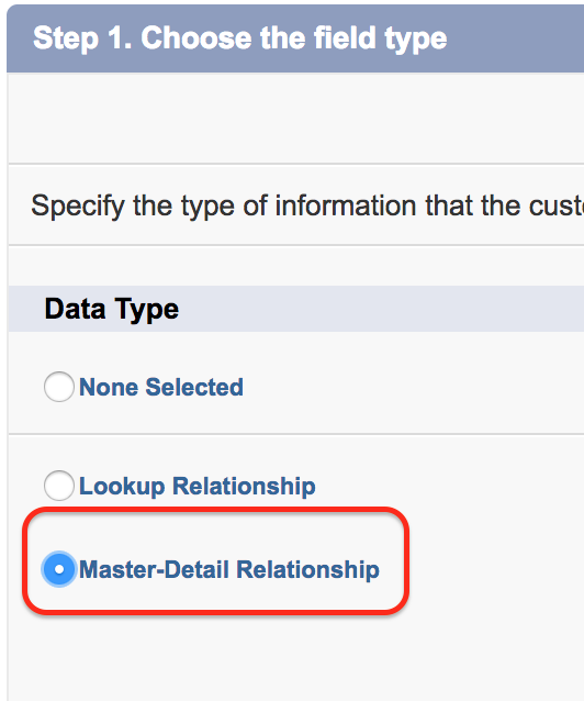 You cannot create a new Master-Detail relationship on an