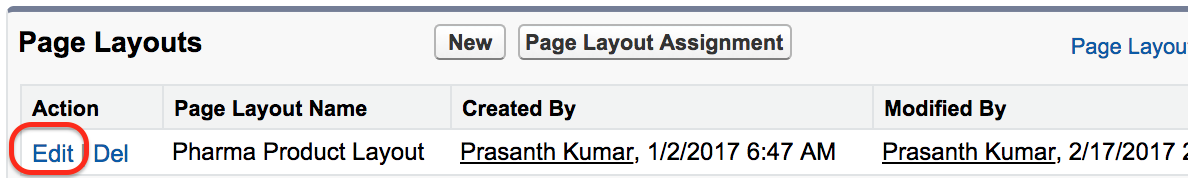 Page Layouts in Salesforce3