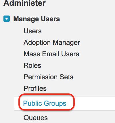 Public groups in Salesforce