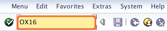 SAP Transaction code OX16