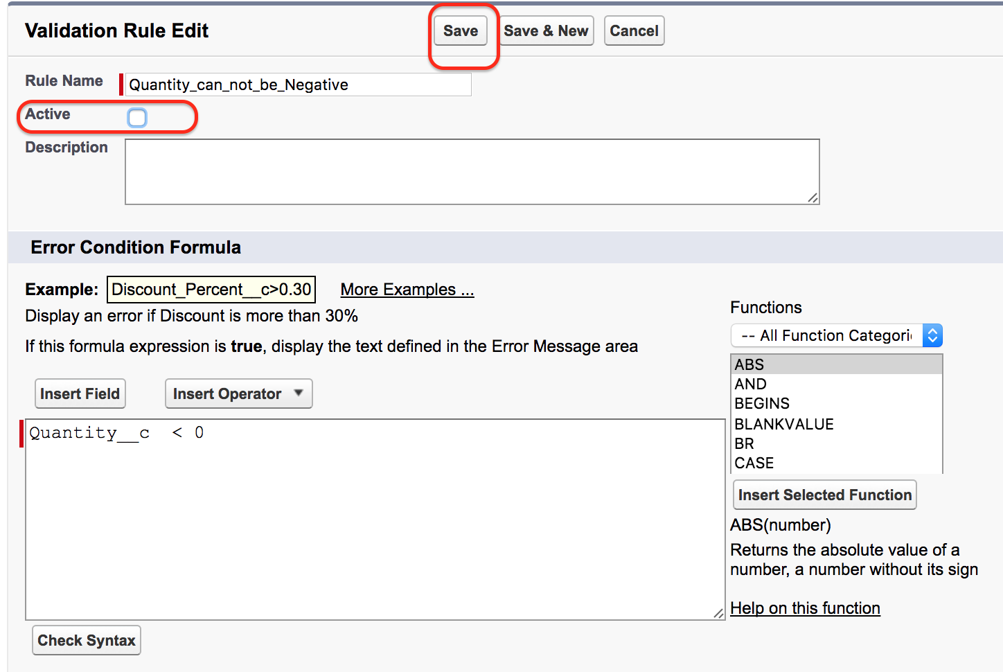 Validation rules in salesforce | Salesforce validation rules