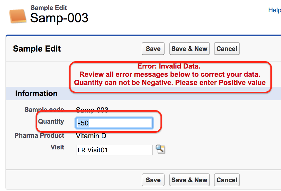 Validation rules in Salesforce.com
