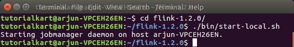 Start local Flink cluster using command - Apache Flink Tutorials - TutorialKart.com