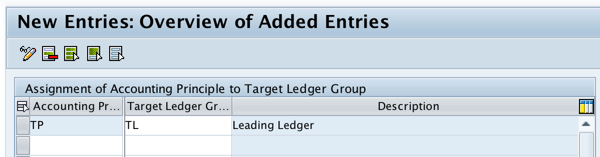 Assign Accounting Principle to Ledger Groups